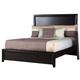 Alpine Furniture Laguna Queen Low Footboard Panel Bed in Dark Espresso