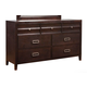Alpine Furniture Legacy 7 Drawer Dresser in Black Cherry