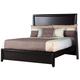 Alpine Furniture Laguna California King Low Footboard Panel Bed in Dark Espresso