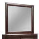 Alpine Furniture Legacy Mirror in Black Cherry