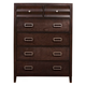 Alpine Furniture Legacy 5 Drawer Chest in Black Cherry