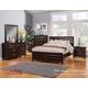 Alpine Furniture Legacy 4-Piece Panel Bedroom Set in Black Cherry