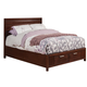 Alpine Furniture Urban California King Storage Bed in Merlot