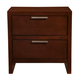 Alpine Furniture Urban 2 Drawer Nightstand in Merlot