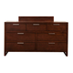Alpine Furniture Urban 7 Drawer Dresser in Merlot