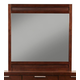 Alpine Furniture Urban Mirror in Merlot