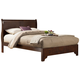 Alpine Furniture West Haven Full Low Footboard Sleigh Bed in Cappuccino