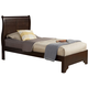Alpine Furniture West Haven Queen Low Footboard Sleigh Bed in Cappuccino