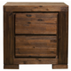 Alpine Furniture Pierre 2 Drawer Nightstand in Antique Cappuccino