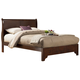 Alpine Furniture West Haven King Low Footboard Sleigh Bed in Cappuccino