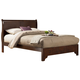 Alpine Furniture West Haven California King Low Footboard Sleigh Bed in Cappuccino