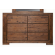 Alpine Furniture Pierre 6 Drawer Dresser in Antique Cappuccino