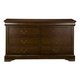 Alpine Furniture West Haven 6 Drawer Dresser in Cappuccino PROMO