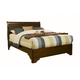 Alpine Furniture Chesapeake Full Low Footboard Sleigh Bed in Cappuccino
