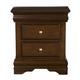 Alpine Furniture Chesapeake 2 Drawer Nightstand in Cappuccino