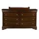 Alpine Furniture Chesapeake 6 Drawer Dresser in Cappuccino