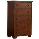 Alpine Furniture Durango 5 Drawer Chest in Distressed Antique Mahogany