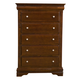 Alpine Furniture Chesapeake 5 Drawer Tall Boy Chest in Cappuccino