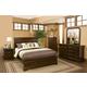 Alpine Furniture Chesapeake 4-Piece Panel Bedroom Set in Cappuccino