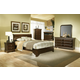 Alpine Furniture Chesapeake 4-Piece Low Footboard Sleigh Bedroom Set in Cappuccino
