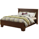 Alpine Furniture Durango California King Platform Bed in Distressed Antique Mahogany