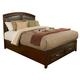 Alpine Furniture Atherton Queen Storage Panel Bed in Merlot