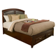 Alpine Furniture Atherton Californnia King Storage Panel Bed in Merlot