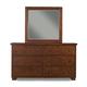 Alpine Furniture Durango Mirror in Distressed Antique Mahogany
