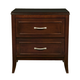 Alpine Furniture Atherton 2 Drawer Nightstand in Merlot