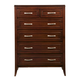 Alpine Furniture Atherton 7 Drawer Tall Boy Chest in Merlot