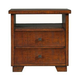 Alpine Furniture Durango Nightstand in Distressed Antique Mahogany