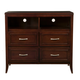 Alpine Furniture Atherton 4 Drawer TV Media Chest in Merlot