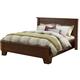 Alpine Furniture Durango Queen Platform Bed in Distressed Antique Mahogany