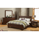 Alpine Furniture Durango 4-Piece Platform Bedroom Set in Distressed Antique Mahogany