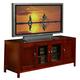 Alpine Furniture Newport TV Console in Medium Cherry