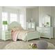 Standard Furniture Camellia 4-Piece Poster Bedroom Set in Mint