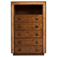 Alpine Furniture Jimbaran Bay Five Drawer Chest in Tobacco ORI-811-05