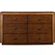 Alpine Furniture Jimbaran Bay Six Drawer Dresser in Tobacco ORI-811-03
