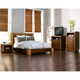 Alpine Furniture Jimbaran Bay 4-Piece Platform Bedroom Set in Tobacco