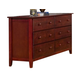 Alpine Furniture Portola Six Drawer Dresser in Light Cherry PB-03LC