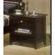 Alpine Furniture Portola Nightstand in Dark Cherry PB-02DCM