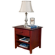 Alpine Furniture Portola Nightstand in Light Cherry PB-02LC
