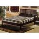 Alpine Furniture Portola Full Platform Bed in Dark Cherry PB-11 FDC