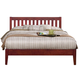 Alpine Furniture Portola Full Slat Platform Bed in Light Cherry PB-01 FLC