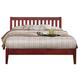 Alpine Furniture Portola Queen Slat Platform Bed in Light Cherry PB-01 QLC