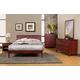 Alpine Furniture Portola 4-Piece Platform Bedroom Set in Light Cherry