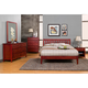 Alpine Furniture Portola 4-Piece Slat Platform Bedroom Set in Light Cherry