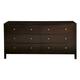 Alpine Furniture Solana Six Drawer Dresser in Cappuccino SK-03