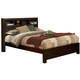 Alpine Furniture Solana King Platform Bed with Bookcase Headboard in Cappuccino SK-07EK