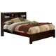 Alpine Furniture Solana California King Platform Bed with Bookcase Headboard in Cappuccino SK-07CK PROMO